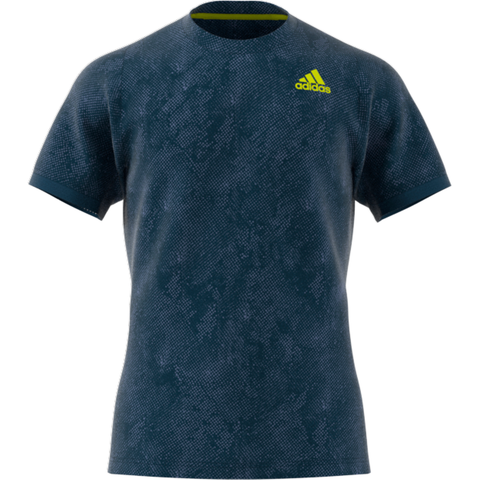 adidas Men's FreeLift Primeblue Printed Top (Blue/Yellow) - RacquetGuys