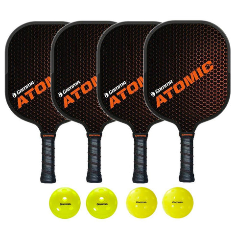 Gamma Atomic 4 Paddle Pickleball Bundle - RacquetGuys