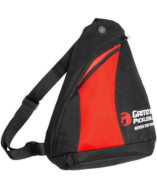 Gamma Pickleball Sling Bag (Black/Red)
