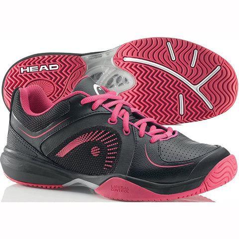 Head Cruze Womens Tennis Shoe (Black/Pink)