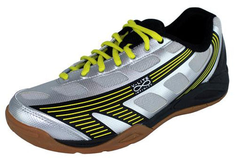 Hi-Tec Infinity Flare Mens Indoor Court Shoe (Silver/Black/Yellow) - RacquetGuys