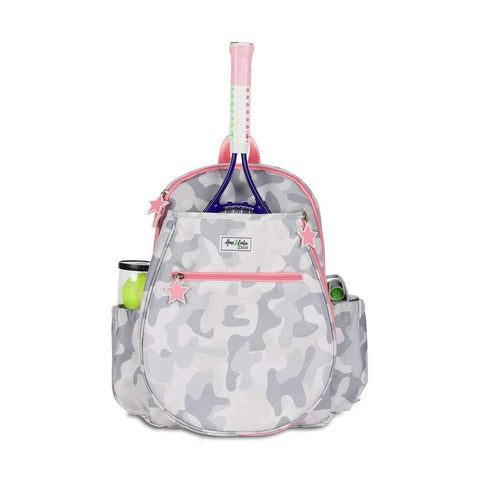 Ame & Lulu Little Love Tennis Junior Backpack Racquet Bag (Grey Camo) - RacquetGuys