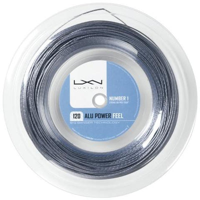 Luxilon ALU Power Feel 18 Tennis String Reel (Silver)