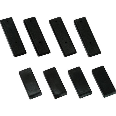 Gamma Mounting System Protect Pads Black (Set of 8) - RacquetGuys