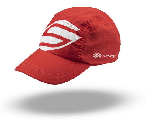 Selkirk Big Logo Jockey Hat (Red) - RacquetGuys.ca