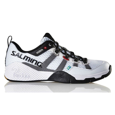 Salming Kobra Womens Indoor Court Shoe (White) - RacquetGuys