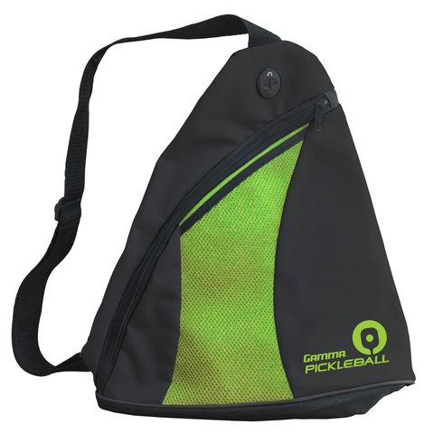 Gamma Pickleball Sling Bag (Black/Green)