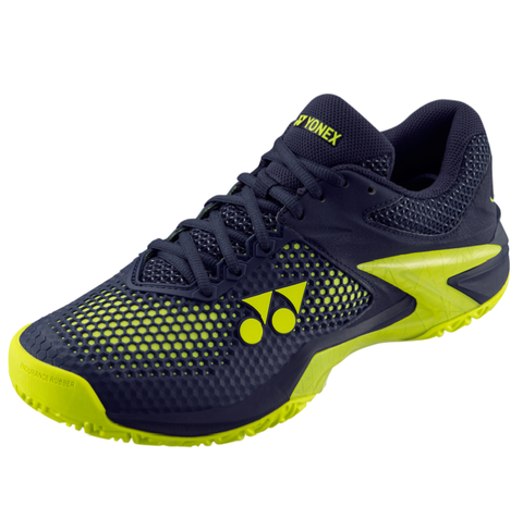 Yonex Power Cushion Eclipsion 2 Men's Tennis Shoe (Navy/Yellow) - RacquetGuys