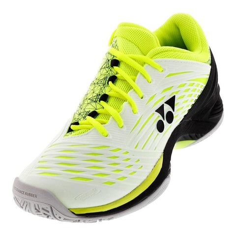 Yonex Power Cushion Fusion Rev 2 Mens Tennis Shoe (White/Yellow)