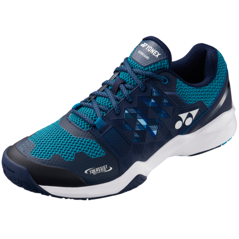 Yonex  Power Cushion Sonicage Wide Men's Tennis Shoe (Blue/Navy) - RacquetGuys