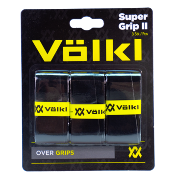 Volkl Super Grip II Overgrip 3 Pack (Black) - RacquetGuys