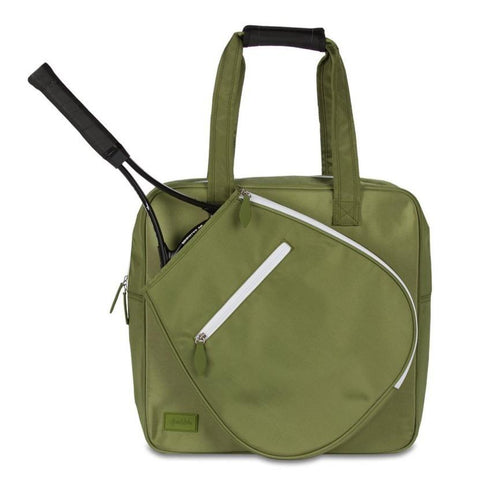Ame & Lulu Sweet Shot Army Green Tote Racquet Bag (Army Green) - RacquetGuys