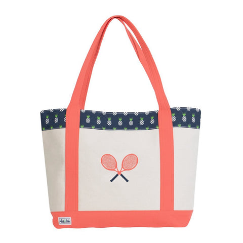 Ame & Lulu Tennis Lovers Pineapple Tote Racquet Bag - RacquetGuys