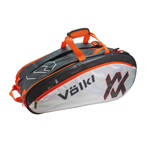 Volkl Tour Combi 6 Pack Racquet Bag (Charcoal/White/Lava) - RacquetGuys