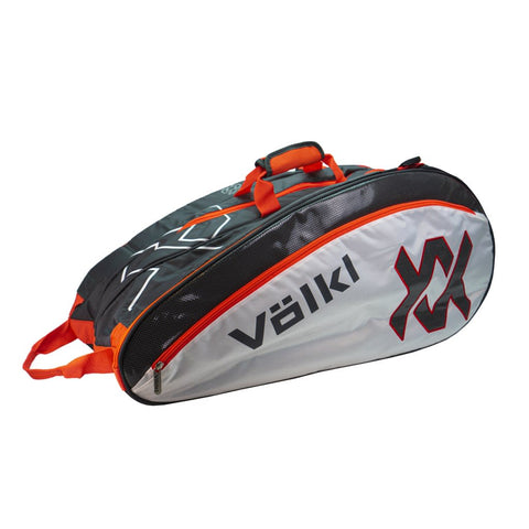 Volkl Tour Mega 9 Pack Racquet Bag (Charcoal/White/Lava) - RacquetGuys