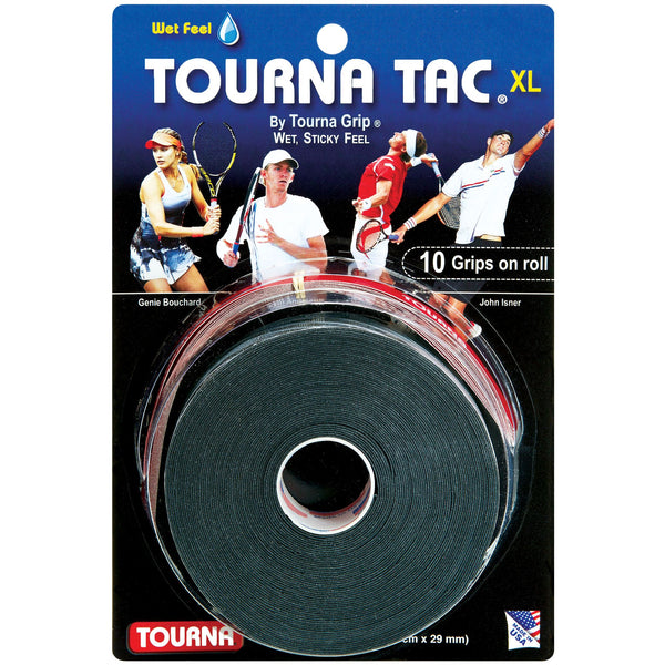 Tourna Tac XL Overgrip 10 Pack (Black) - RacquetGuys