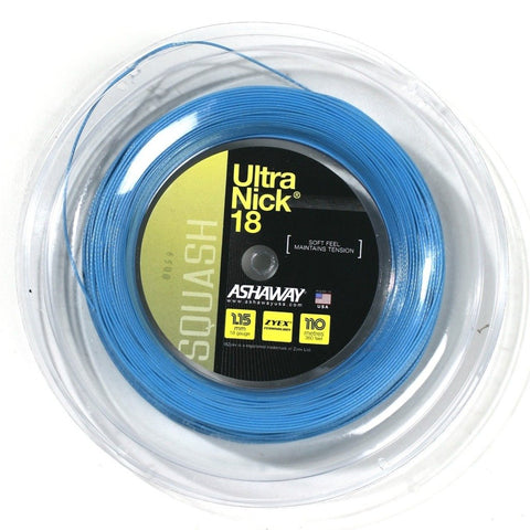 Ashaway UltraNick 18 Squash String Mini Reel (Blue) - RacquetGuys