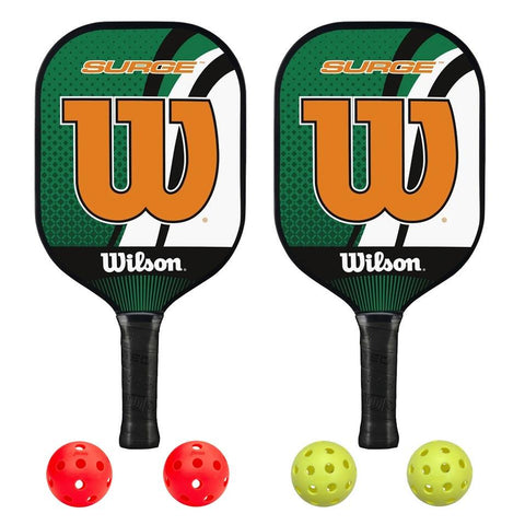 Wilson Surge 2 Paddle Pickleball Bundle - RacquetGuys