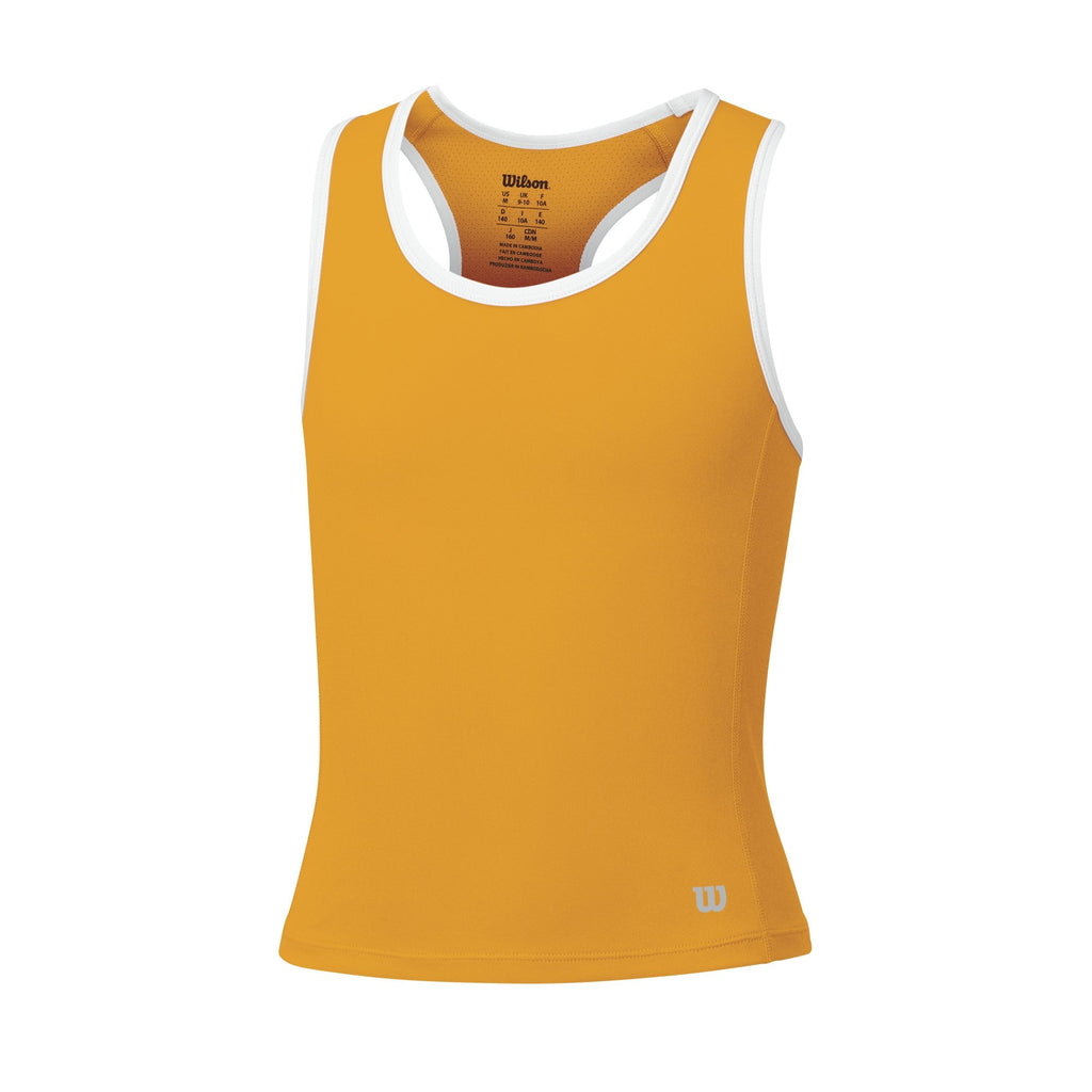 Wilson Girls Rush Tank Top (Orange Pop) - RacquetGuys