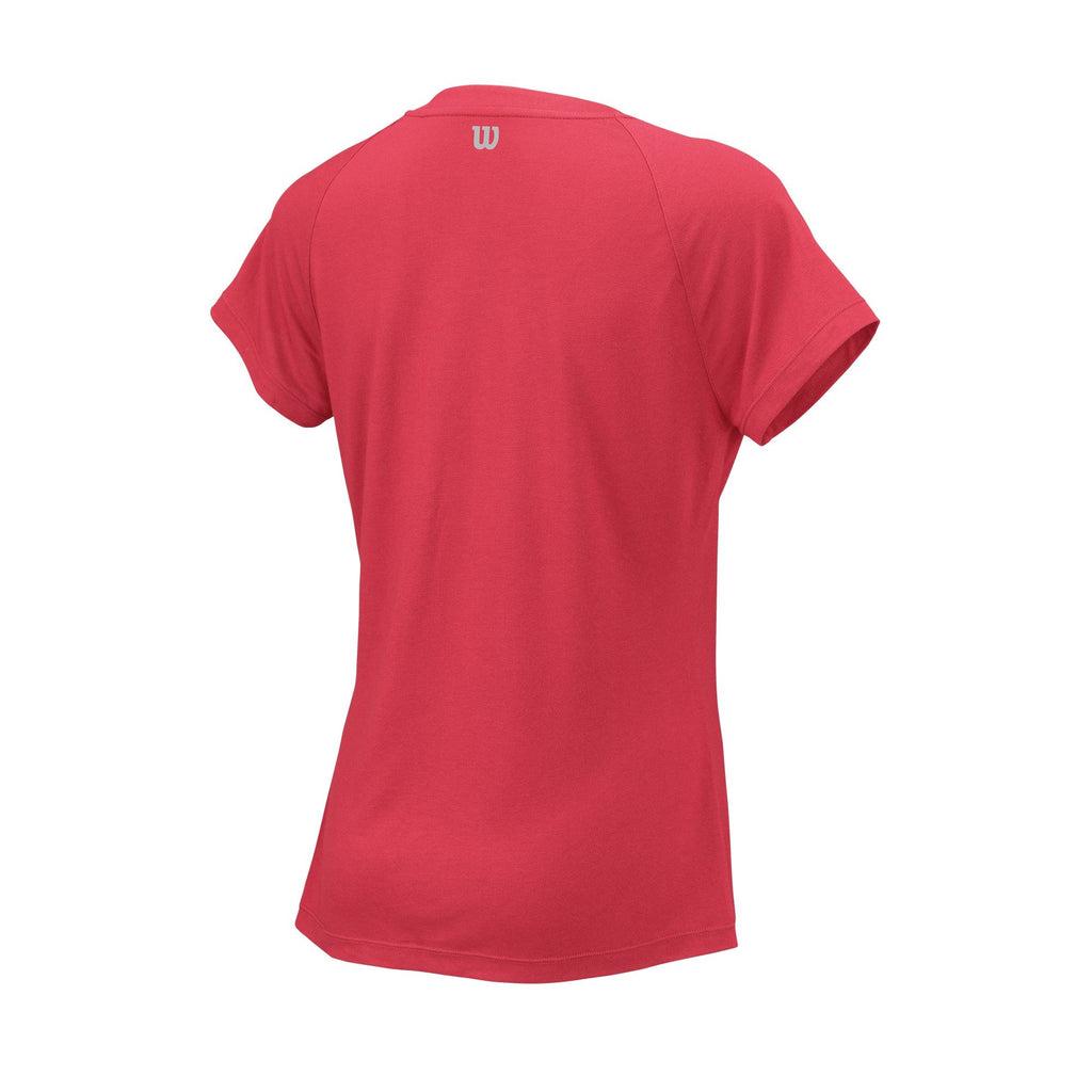 Wilson Womens Condition Top (Fiery Coral) - RacquetGuys
