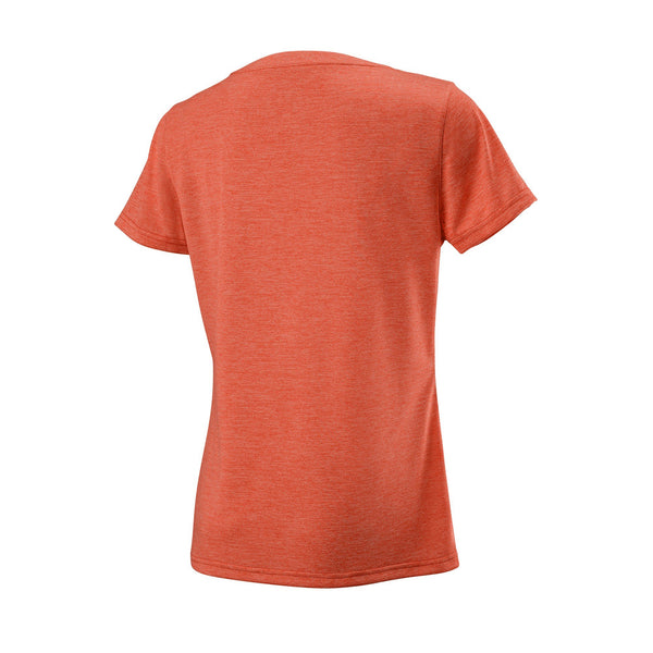 Wilson Womens UWII Script Tech Top (Orange/Red) - RacquetGuys