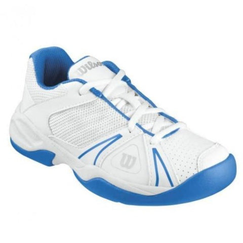 Wilson Open Junior Tennis Shoe (White/Blue)