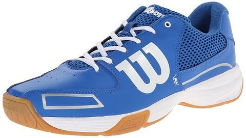 Wilson Storm Junior Indoor Court Shoe (Blue/White) - RacquetGuys