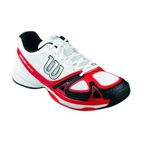 Wilson Rush Evo Mens Tennis Shoe (White/Red/Black)