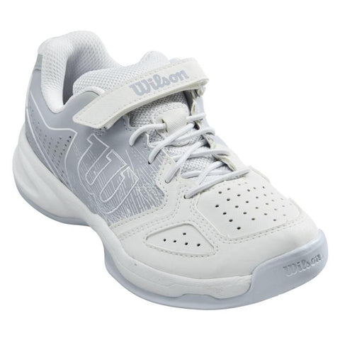 Wilson Kaos Junior Tennis Shoe (White/Pearl Blue) - RacquetGuys