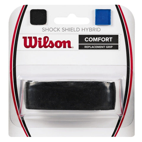 Wilson Shock Shield Hybrid Replacement Grip (Black) - RacquetGuys