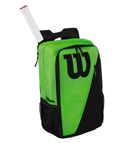 Wilson Match III Backpack Racquet Bag (Green/Black) - RacquetGuys