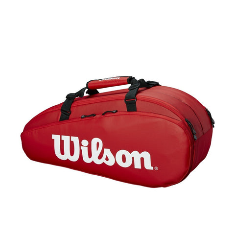 Wilson Super Tour 2 Compartment 6 Racquet Bag (Red)