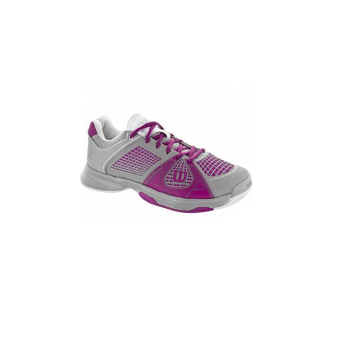Wilson Rush NGX Women's Tennis Shoe (Grey/Fuschia)