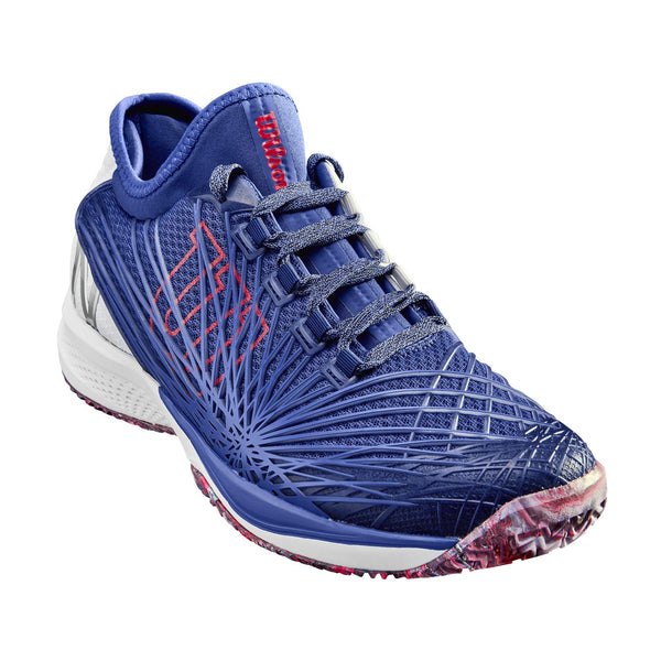 Wilson Kaos 2.0 SFT Mens Tennis Shoe (Blue/White/Red)