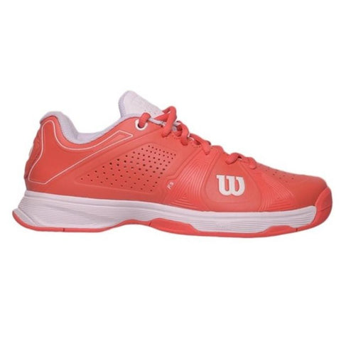 Wilson Rush Sport Women's Tennis Shoe (Coral/White)