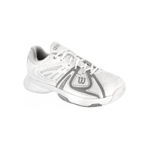 Wilson Rush 2 Junior Tennis Shoe (White/Grey)