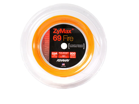 Ashaway Zymax 69 Fire Badminton String Reel (Orange) - RacquetGuys