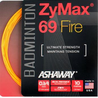 Ashaway ZyMax 69 Fire Badminton String (Orange) - RacquetGuys