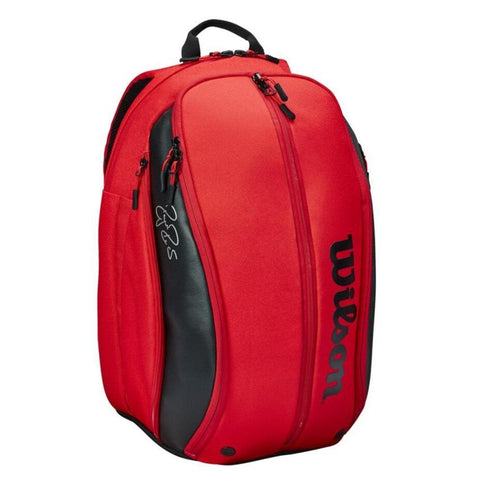 Wilson RF DNA Backpack Racquet Bag (Red/Black) - RacquetGuys