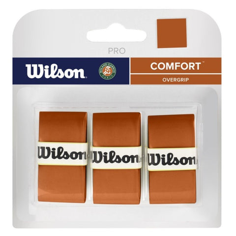 Wilson Roland Garros Pro Overgrip 3 Pack (Red Clay)