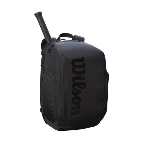 Wilson Super Tour Pro Staff Backpack Racquet Bag (Black) - RacquetGuys