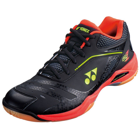 Yonex Power Cushion 65 Z Men's Indoor Court Shoe (Black/Bright Red) - RacquetGuys