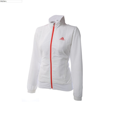 adidas Women's Barricade Woven Jacket Women's (White/Red)
