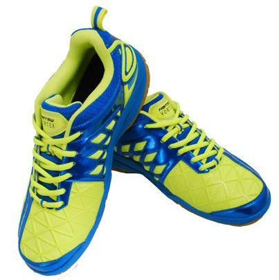 Harrow Vortex Men's Indoor Court Shoe (Green/Blue) - RacquetGuys