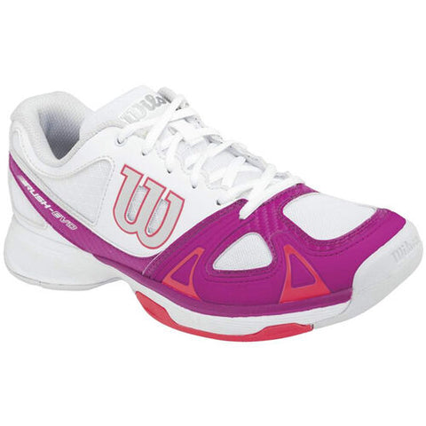 Wilson Rush Evo Womens Tennis Shoe (White/Pink/Red)