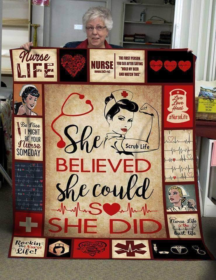She Believed- Blanket[DHL Shipping applied]