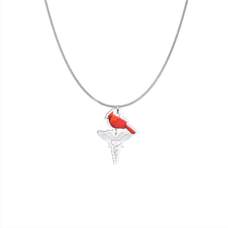 Caduceus Cardinal Necklace