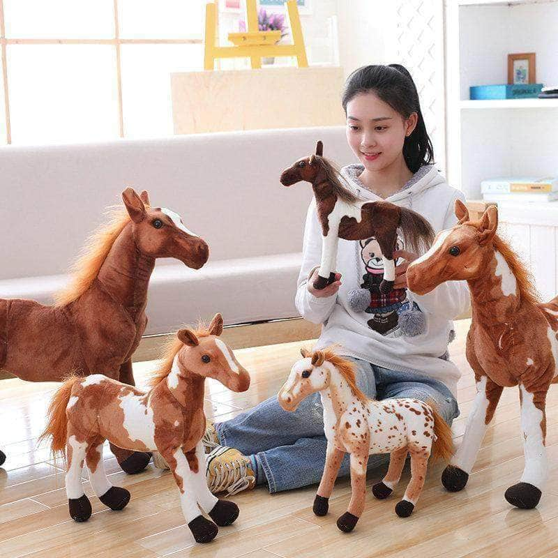 30-90cm Simulation Horse Plush Toys