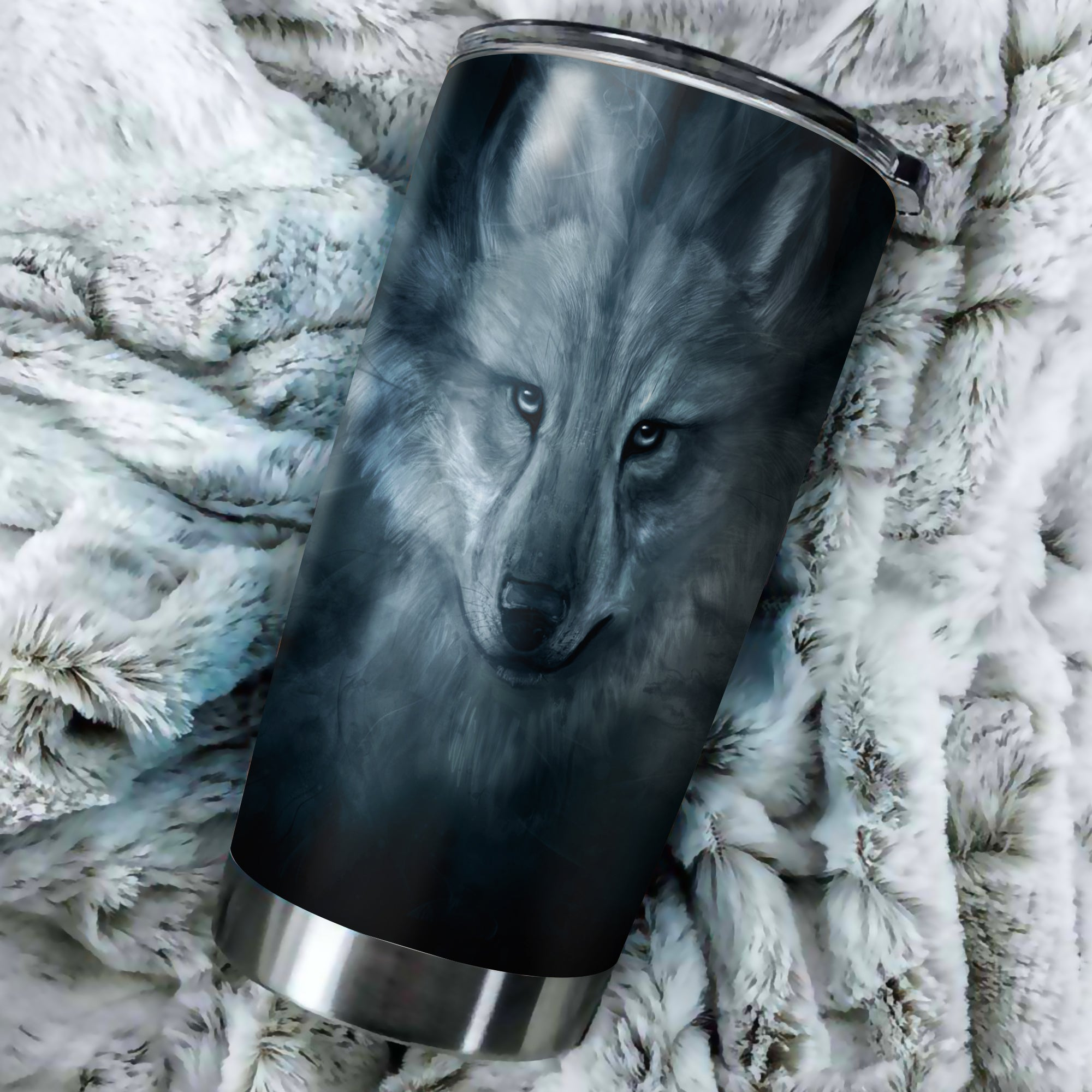 Grey Wolf Native Tumbler