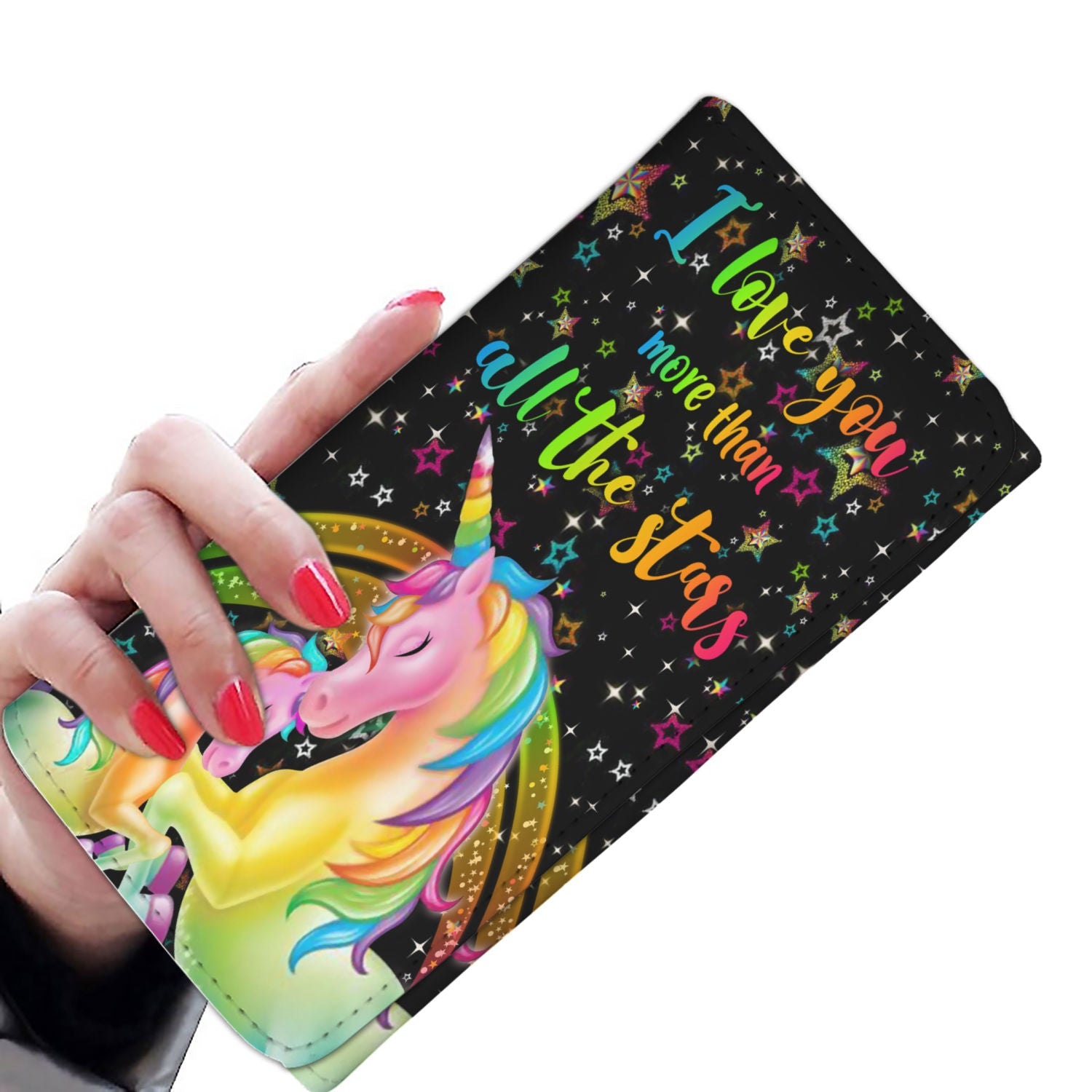 I Love You Unicorn Women Wallet